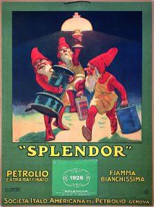 Leopoldo Metlicovitz, Splendor petrolio extra raffinato, 1926